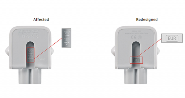 AC wall plug adapters recalled by Apple