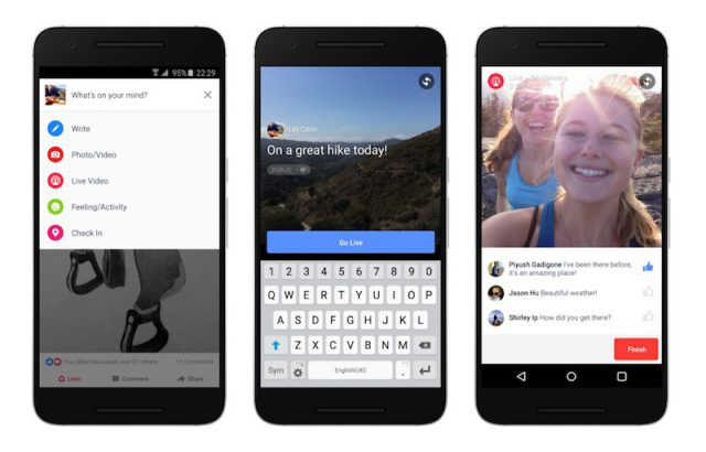 Facebook Live comes to Android